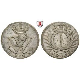 Brandenburg-Preussen, Königreich Preussen, Friedrich Wilhelm I., 1/12 Taler 1724, ss+