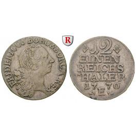 Brandenburg-Preussen, Königreich Preussen, Friedrich II., 1/12 Taler 1770, ss