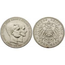 Deutsches Kaiserreich, Braunschweig, Ernst August, 5 Mark 1915, ohne Lüneburg, A, vz/vz+, J. 56