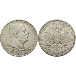 Deutsches Kaiserreich, Sachsen-Altenburg, Ernst, 5 Mark 1903, Regierungsjubiläum, A, f.vz, J. 144