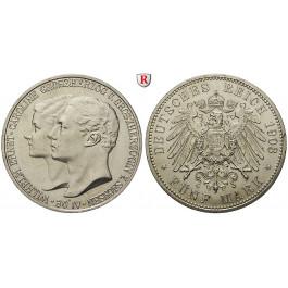 Deutsches Kaiserreich, Sachsen-Weimar-Eisenach, Wilhelm Ernst, 5 Mark 1903, Hochzeit mit Caroline, A, vz/f.st, J. 159