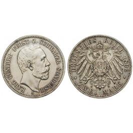 Deutsches Kaiserreich, Schwarzburg-Sondershausen, Karl Günther, 2 Mark 1896, ss-vz, J. 168