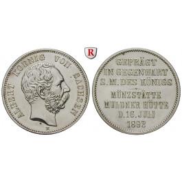 Deutsches Kaiserreich, Sachsen, Albert, Gedenkmünze in 2 Mark-Größe 1892, Münzbesuch, vz, J. 126