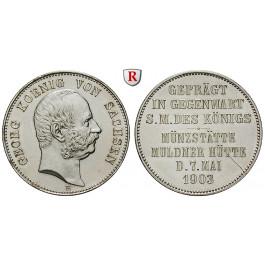 Deutsches Kaiserreich, Sachsen, Georg, Gedenkmünze in 2 Mark-Größe 1903, Münzbesuch, vz, J. 131