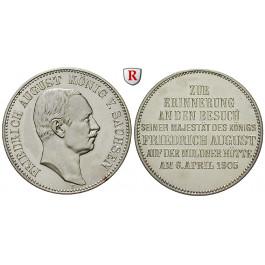 Deutsches Kaiserreich, Sachsen, Friedrich August III., Gedenkmünze in 2 Mark-Größe 1905, Münzbesuch, vz-st, J. 137