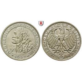 Weimarer Republik, 3 Reichsmark 1928, Dürer, D, vz-st, J. 332