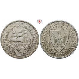 Weimarer Republik, 5 Reichsmark 1927, Bremerhaven, A, vz, J. 326