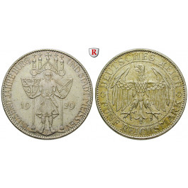 Weimarer Republik, 5 Reichsmark 1929, Meißen, E, ss-vz, J. 339