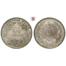 Deutsches Kaiserreich, 50 Pfennig 1900, J, vz, J. 15
