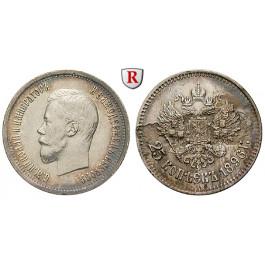 Russland, Nikolaus II., 25 Kopeken 1896, ss-vz