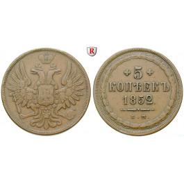 Russland, Alexander II., 5 Kopeken 1852, ss+