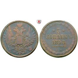 Russland, Alexander II., 5 Kopeken 1858, ss