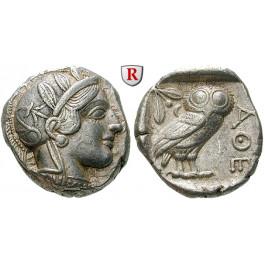 Attika, Athen, Tetradrachme 2. Hälfte 5.Jh. v.Chr., ss-vz