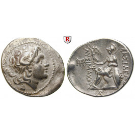Thrakien, Königreich, Lysimachos, Tetradrachme 323-281 v.Chr., ss+