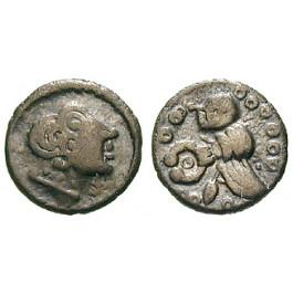 Deutschland, Hessen u. Rheinland, Vangiones, Quinar 75-50 v.Chr., ss