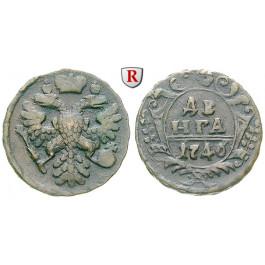 Russland, Anna, Denga 1740, ss-vz
