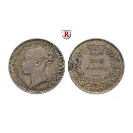 Grossbritannien, Victoria, Sixpence 1872, ss+