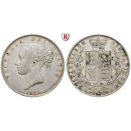 Grossbritannien, Victoria, Halfcrown 1849, ss