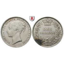 Grossbritannien, Victoria, Shilling 1873, f.vz