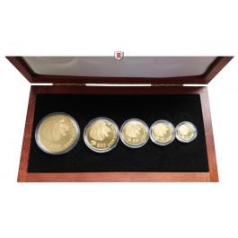 Singapur, Goldsatz 2001, 59,03 g fein, PP