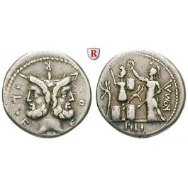 Römische Republik, M. Furius, Denar 119 v.Chr., ss