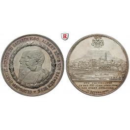 Annaberg, Stadt in Sachsen, Silbermedaille 1896, vz-st