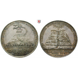 Braunschweig, Braunschweig-Calenberg-Hannover, Georg II., Silbermedaille 1730, ss-vz