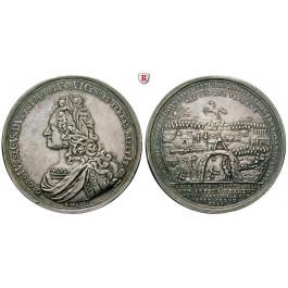 Braunschweig, Braunschweig-Calenberg-Hannover, Georg II., Silbermedaille 1729, vz