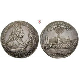 Sachsen, Sachsen-Saalfeld, Johann Ernst VIII., Reichstaler 1720, f.vz