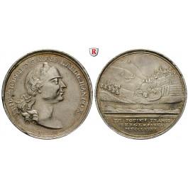 Hessen, Hessen-Kassel, Friedrich II., Silbermedaille 1776, ss-vz