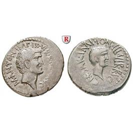 Römische Republik, Marcus Antonius, Denar 39 v.Chr., ss+