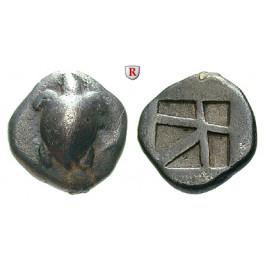 Aigina, Drachme um 480-457 v.Chr., ss+