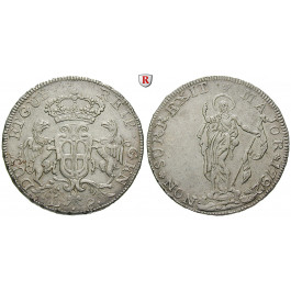 Italien, Genua, Doge Biennali, 8 Lire 1792, f.vz