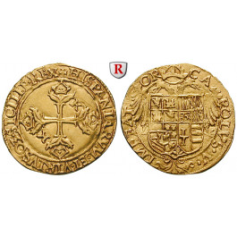 Italien, Neapel und Sizilien, Carlos I. von Spanien (Karl V.), Scudo d´oro o.J., ss-vz/vz
