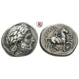 Makedonien, Königreich, Philipp II., Tetradrachme 359-336 v.Chr., ss+