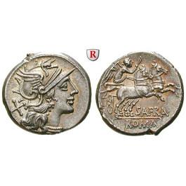 Römische Republik, Spurius Afranius, Denar 150 v.Chr., vz+