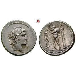 Römische Republik, L. Marcius Censorinus, Denar 82 v.Chr., vz-st