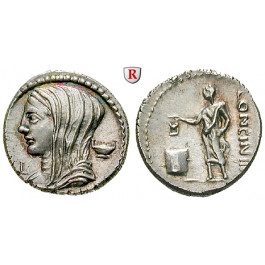 Römische Republik, L. Cassius Longinus, Denar 78 v.Chr., st