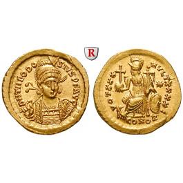 Römische Kaiserzeit, Theodosius II., Solidus 430-440, st