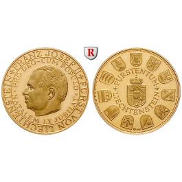 Liechtenstein, Franz Josef II., Goldmedaille o.J., 6,3 g fein, PP