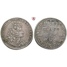 Brandenburg-Preussen, Kurfürstentum Brandenburg, Friedrich III., 2/3 Taler 1691, ss+