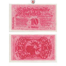 Notgeld der besonderen Art, Bielefeld, 10 Goldpfennig (1/42 Dollar) 8.11.1923, I