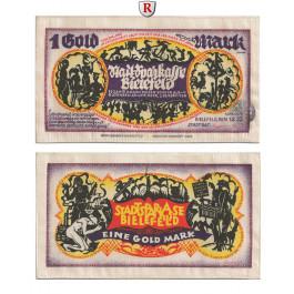 Notgeld der besonderen Art, Bielefeld, 1 Goldmark 1.2.1923, I