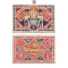 Notgeld der besonderen Art, Bielefeld, 50 Mark 9.4.1922, II