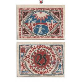 Notgeld der besonderen Art, Bielefeld, 25 Mark 15.7.1921, I-