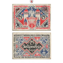 Notgeld der besonderen Art, Bielefeld, 25 Mark 15.7.1921-1.4.1922, I-