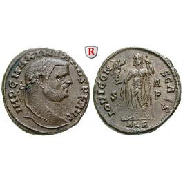 Römische Kaiserzeit, Maximianus Herculius, Follis 305-306, vz-st