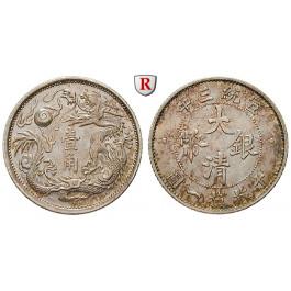 China, Republik, 10 Cents (1911), f.st
