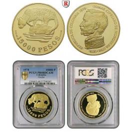 Kolumbien, Republik, 15000 Pesos 1978, 30,1 g fein, PP