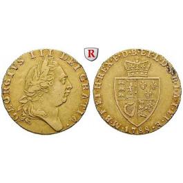 Grossbritannien, George III., Guinea 1788, 7,66 g fein, ss+